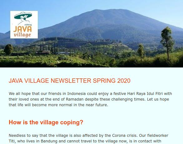 Nieuwsbrief voorjaar 2020